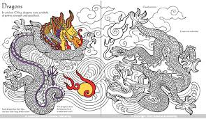 Chinese patterns to colour