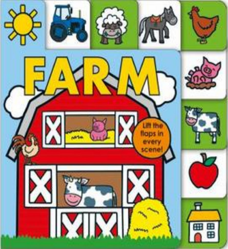 Roger Priddy Lift-the-Flap Tab Books: FARM