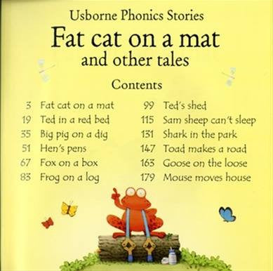 Usborne Phonics - Fat cat on a mat with CD
