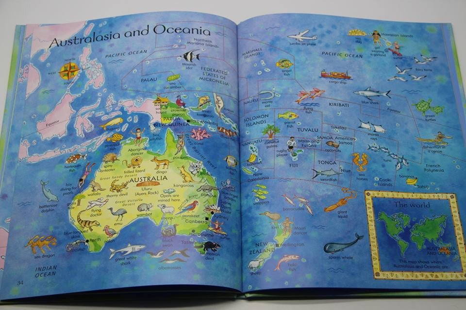 Usborne Children's Atlas (Large Hardback)
