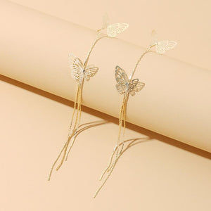 Dream Butterfly tassel earrings