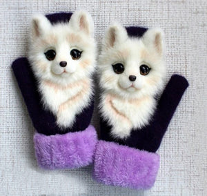 Warm Cartoon Animal Gloves