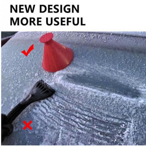 HOT SALE🔥Cone-Shaped Windshield Ice Scraper