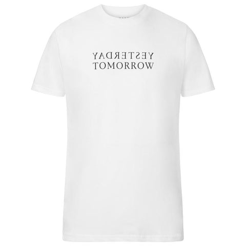 Made Thoughts - Yesterday Tomorrow - White T Shirt-Boutique Mags