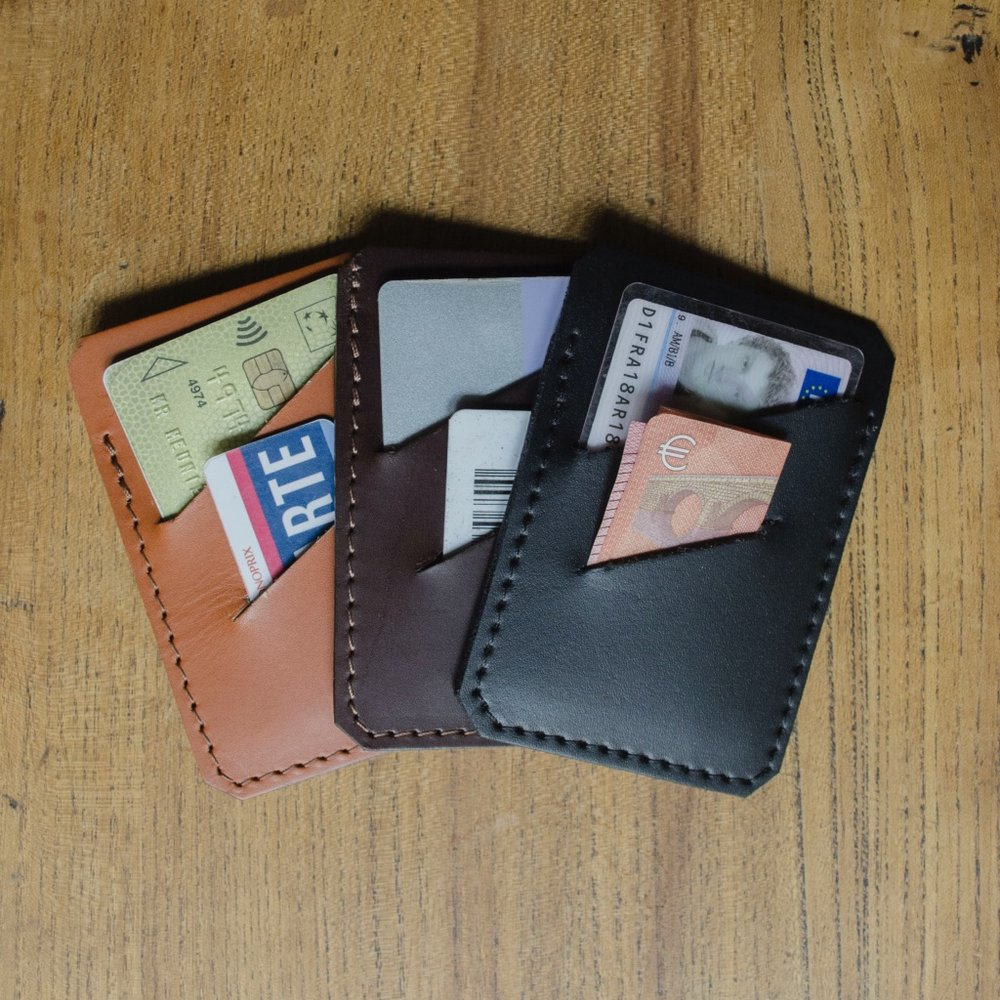 Gustave, slim leather wallet