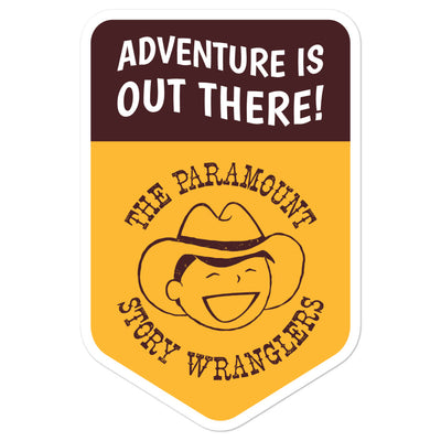 Story Wranglers Adventure is Out There Patch Sticker (with boy logo)