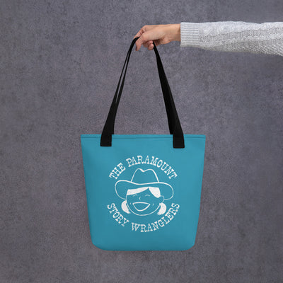 Story Wranglers Tote Bag (teal with girl logo)