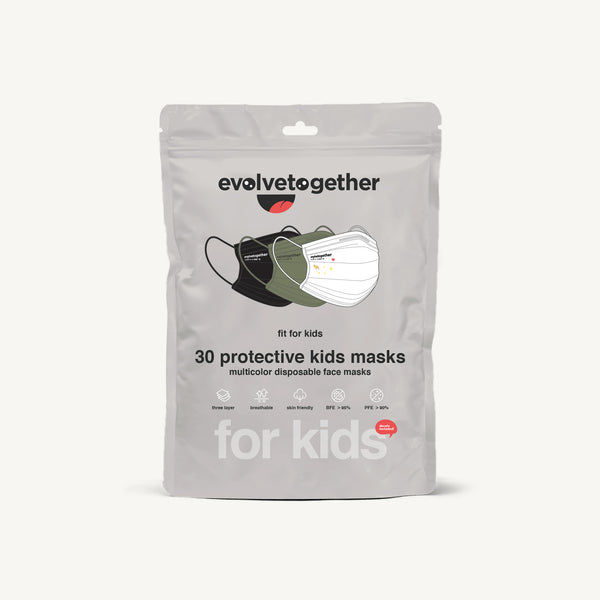 color combo pack - 30 kids face masks