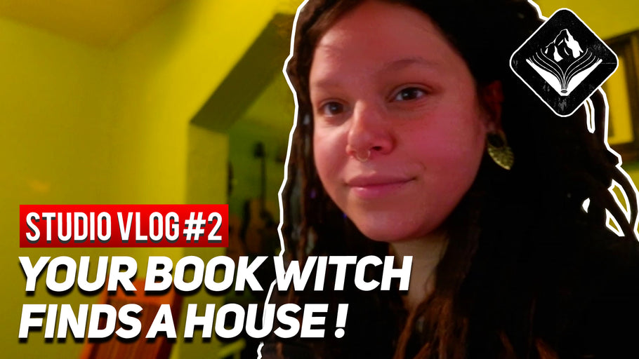 Your Book Witch finds a house! || STUDIO VLOG#2 || 8/4/20|| Mountain Bound Books