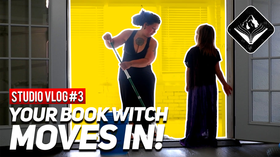 Your Book Witch moves in! || STUDIO VLOG#3 || 8/11/20 || Mountain Bound Books