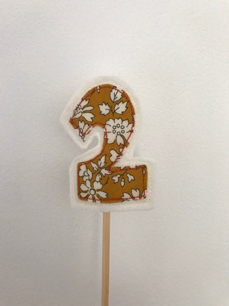 Set of 10 numbers Cake Toppers