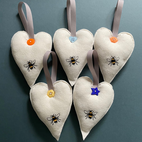 Hanging Bee Heart Decoration