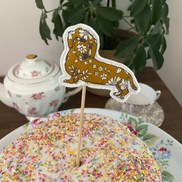 Dog cake decoration topper