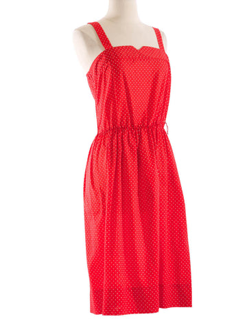 70's Red Polka Dot Sundress - S
