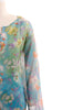 Blue Floral Blouse - 1X