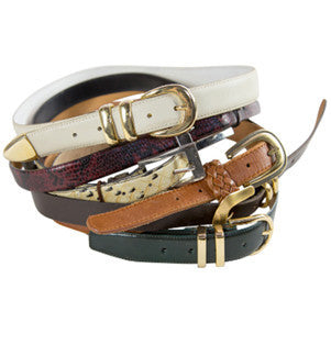 Mystery Womens Thin Leather Belts
