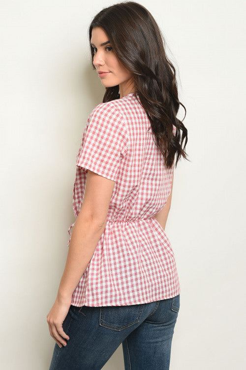 Smitten Plaid Top