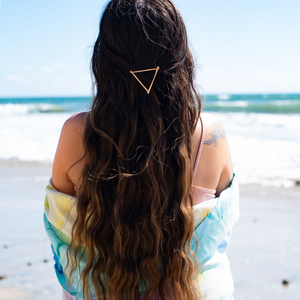 Geometric Gold Triangle Hair Clip