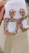 Load and play video in Gallery viewer, Pinky Rose Gold Earrings