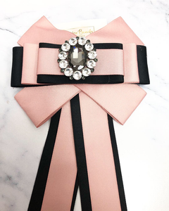 Pink and  Black Bow