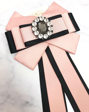 Load image into Gallery viewer, Pink and  Black Bow