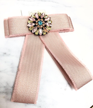 Load image into Gallery viewer, Pastel Pink Bow Pin