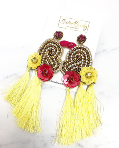Flower heart tassel