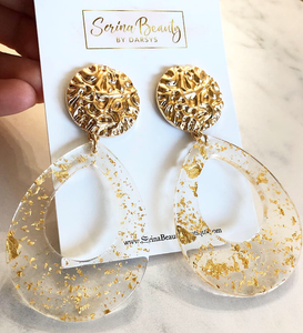 Gold clear hoops