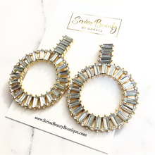 Load image into Gallery viewer, Gold Clear Earrings