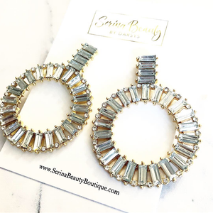 Gold Clear Earrings