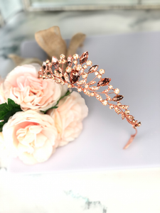 Rose Gold Small Tiara