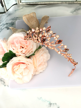 Load image into Gallery viewer, Rose Gold Small Tiara