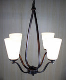 Braxton 4-Light Chandelier Burnished Bronze