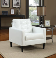 "30"" X 30"" X 33"" White Accent Chair"
