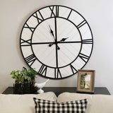 "31.5"" X 1.57"" X 31.5"" White Metal Mdf Wall Clock"