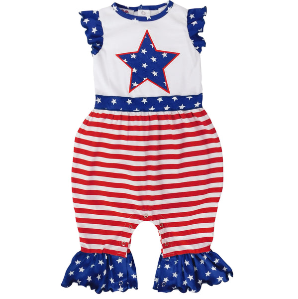 Fourth of July America Flag Star Baby
