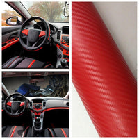 Car styling Red 3D Carbon Fiber Vinyl Film Wrap