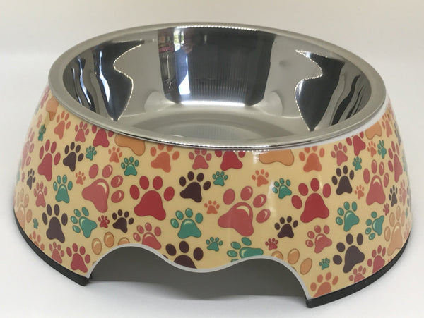 Put Your Paws Up In The Air Medium Size Dog Bowl