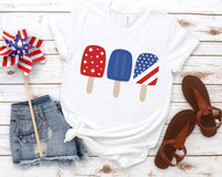 Red White Blue Patriotic Popsicle Tee