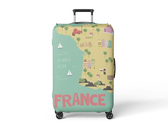 France Map Travel Gifts For Travelers Luggage