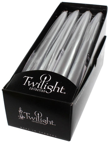 "Candles - Twilight 10"" Metallic Taper - 12 Pack"