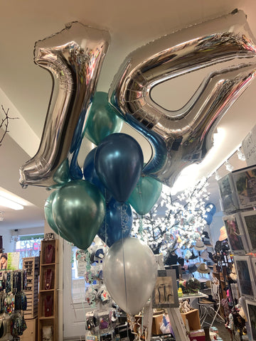 Balloons - Number and Chrome