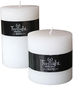 "Candles - Twilight Rustic Pillar - 4"" x 4"" & 4"" x 6"" COLLECTION"