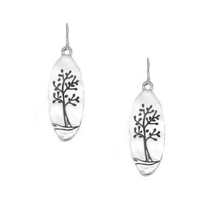 Earrings - Pewter