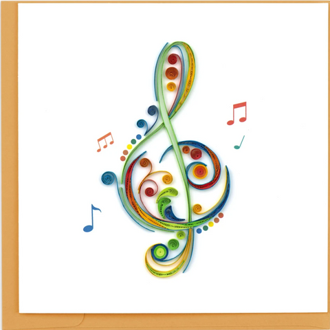 Music - Blank - Treble Clef - Quilling Art
