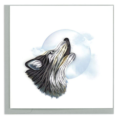 Wolf - Blank - Howling Wolf - Quilling Art