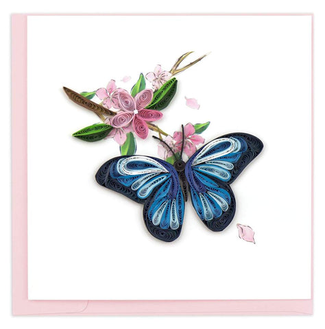 Butterfly - Blank - Blue - Quilling Art