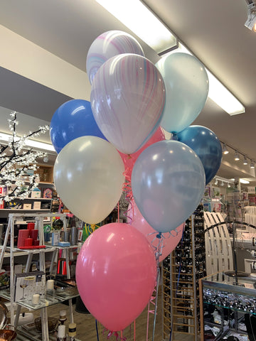Balloons - marble - chrome - mix