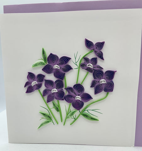 Flowers - Blank - Meadow Violet - Quilling Art