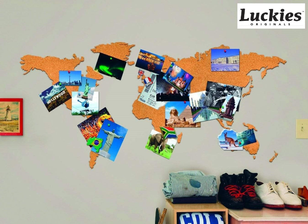 LUCKIES OF LONDON CORKBOARD MAP_ Mappa in sughero STATIONARY